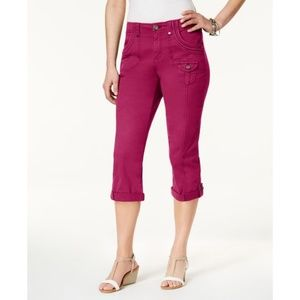 NEW Style & Co Hot Pink Capris